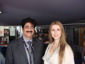Sandeep Marwah has invited Claudia the German Model to India