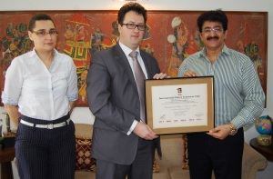 Sandeep Marwah N Ambassador of Belarus in India