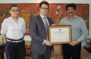 Sandeep Marwah N Ambassador of Belarus in India