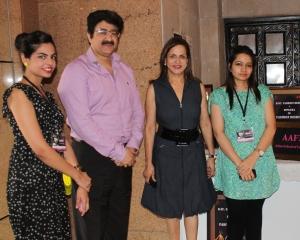 Ramola Bachchan and Sandeep Marwah