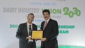 Sandeep Marwah Honored at Dairy Industry Expo
