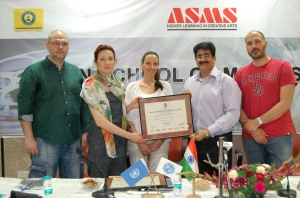 Sandeep Marwah Honored by Serbian Film Commission