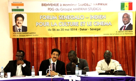 Marwah Addressing Member of Cultural Organizationsat Dakar