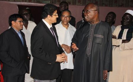 Sandeep Marwah Inspecting Theatres in Dakar