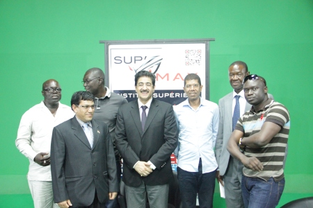 Sandeep Marwah at Multi Media Institute at Dakar