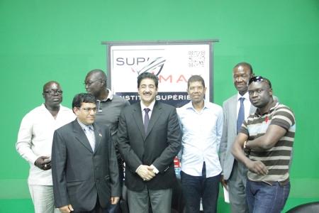 Sandeep Marwah at Multi Media Institute at Dakar