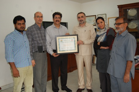 Embassy of Iran Honoured Sandeep Marwah
