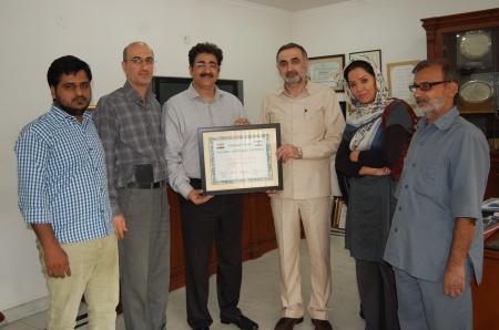 Embassy of Iran Honoured Sandeep Marwah