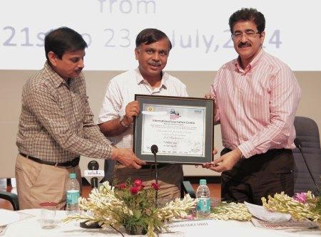 M.P.Sinha of Aaj Tak at ASMS