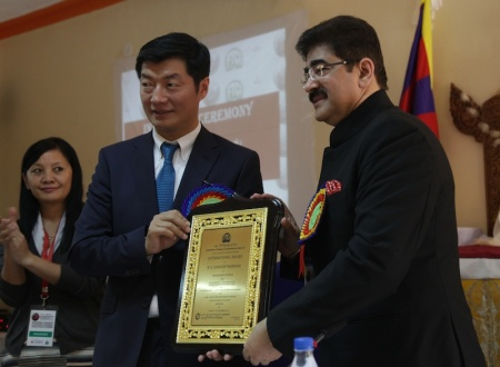 Sandeep Marwah Honored by Prime Minister of Tibet