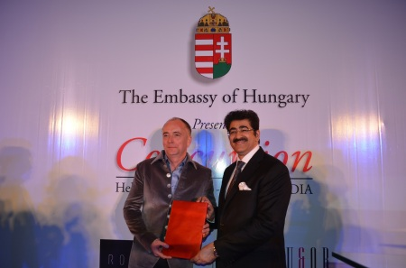 Sandeep Marwah Honored By Ambassador of Hungary In India