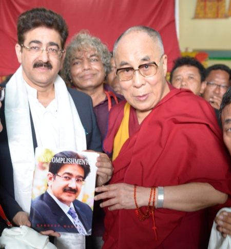 Sandeep Marwah With H.H. Dalai Lama