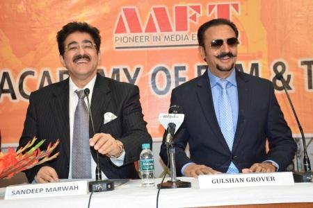 Sandeep Marwah With Gulshan Grover at AAFT