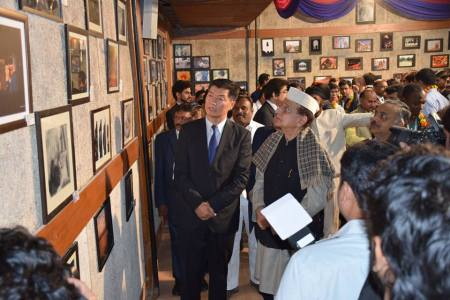 Inauguration of Exhibition at 3rd GFJN 2015