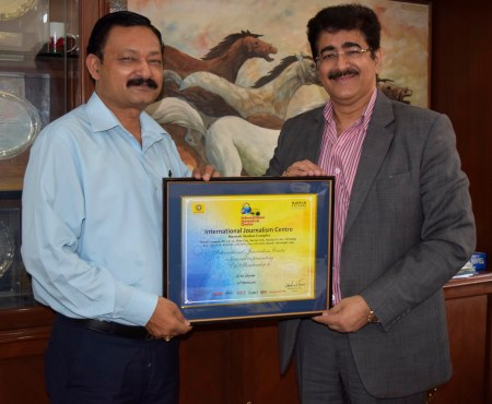 Arun Sharma with Sandeep Marwah