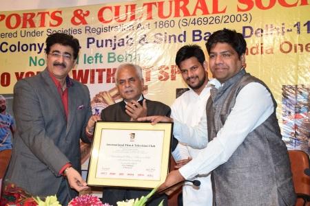 Indian Sports Society Honors S.K.Bagga, Prakash Jorwal & Dinesh Mohaniya