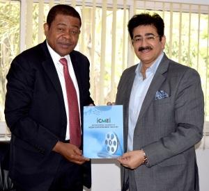 Ambassador of Gabon in India with Sandeep Marwah