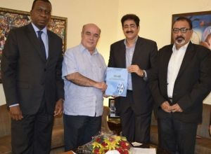 ICMEI With H.E. Jose Maria Morais High Commissioner of Mozambique in India