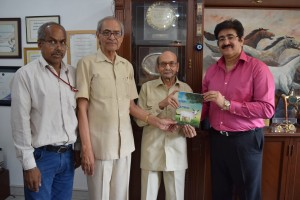 Book on Cow Released at Marwah Studio
