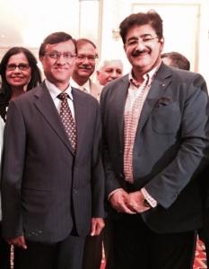 Sandeep Marwah with Ambassador D. Mulay