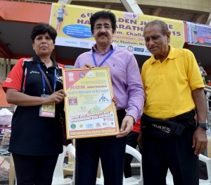 Sandeep Marwah Honored for His World Record in Sports