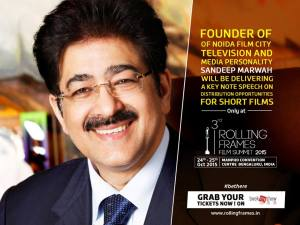 Sandeep Marwah Honored at 3rd Rolling Frames Film Festival
