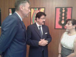Sandeep Marwah Inaugurated Painting Exhibition at Bulgarian Embassy