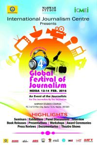 4th Global Festival of Journalism Noida 2016